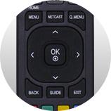 Naviguer dans les menus - Télécommande universelle LG