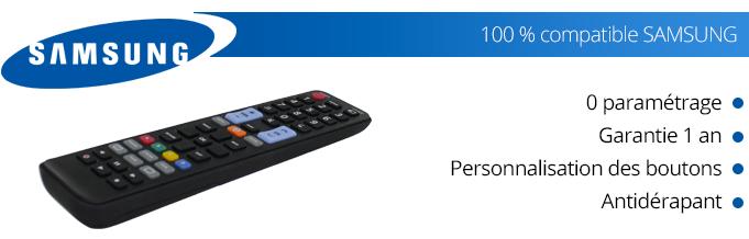 Avantages télécommande universelle Samsung