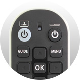 Des boutons essentiels - Télécommande universelle Freebox