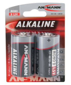 ANSMANN Pile alcaline 'RED', Mono D, blister de 2