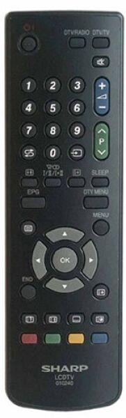 Télécommande SHARP 010240 - 9JD076B0MU030