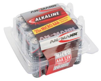 ANSMANN Pile alcaline 'RED', Micro AAA, blister de 20