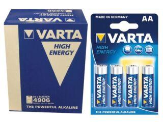 LR6 1,5V PILES ALKALINE MIGNON VARTA 20X 4PC BLISTER HIGH ENERGY